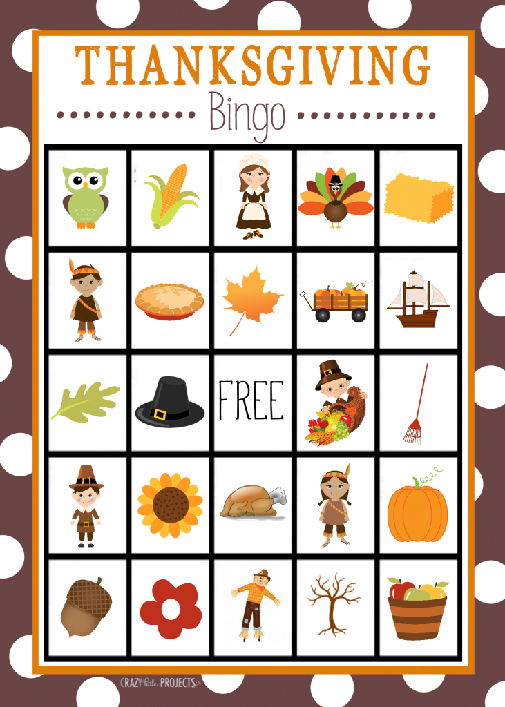 Free Printable Thanksgiving Bingo Game – Fun-Squared | Mexican Loteria Cards Printable