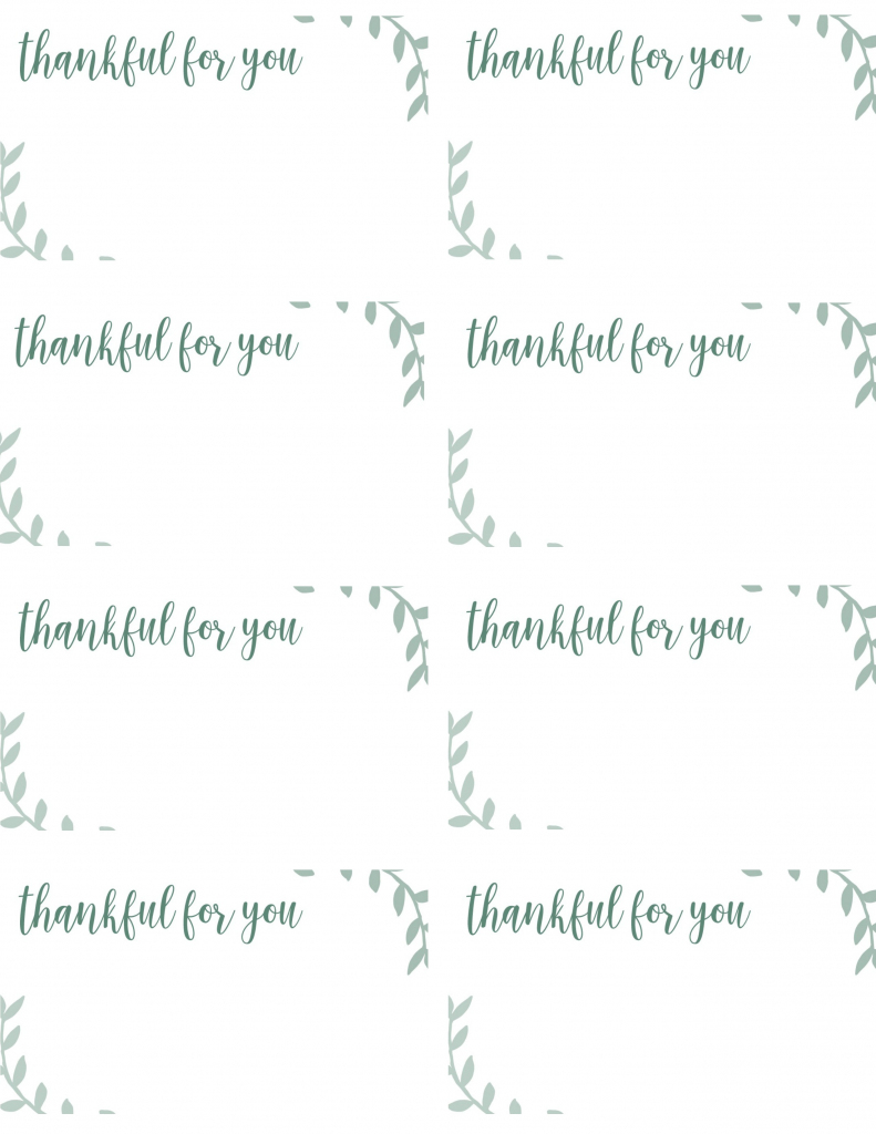 Free Printable Thanksgiving Place Cards -- Also Great For Cupcake | Free Printable Place Cards