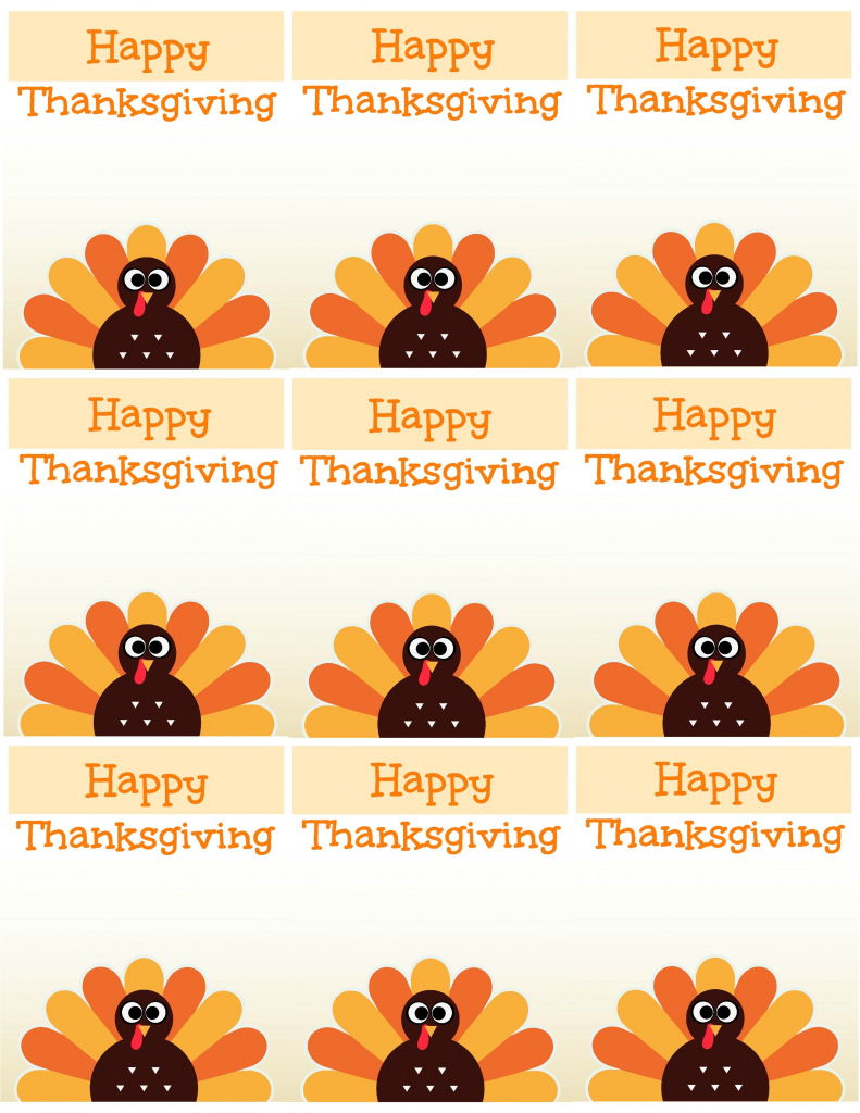 Free Printable Thanksgiving Place Cards -- Also Great For Cupcake   Printable Thanksgiving Place Cards