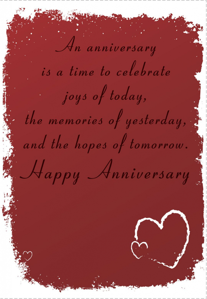 Free Printable 'time To Celebrate' Anniversary Greeting Card | Anniversary Cards For Grandparents Printable