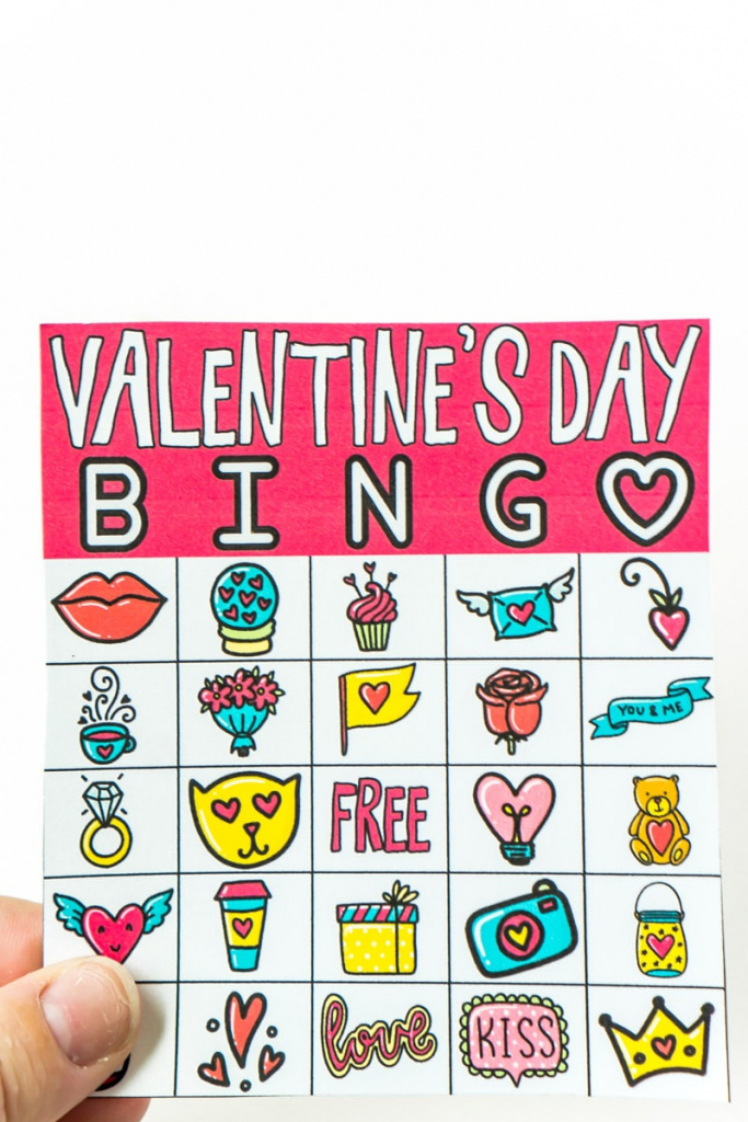 Free Printable Valentine Bingo Cards For All Ages - Play Party Plan   Printable Valentine Bingo Cards With Numbers