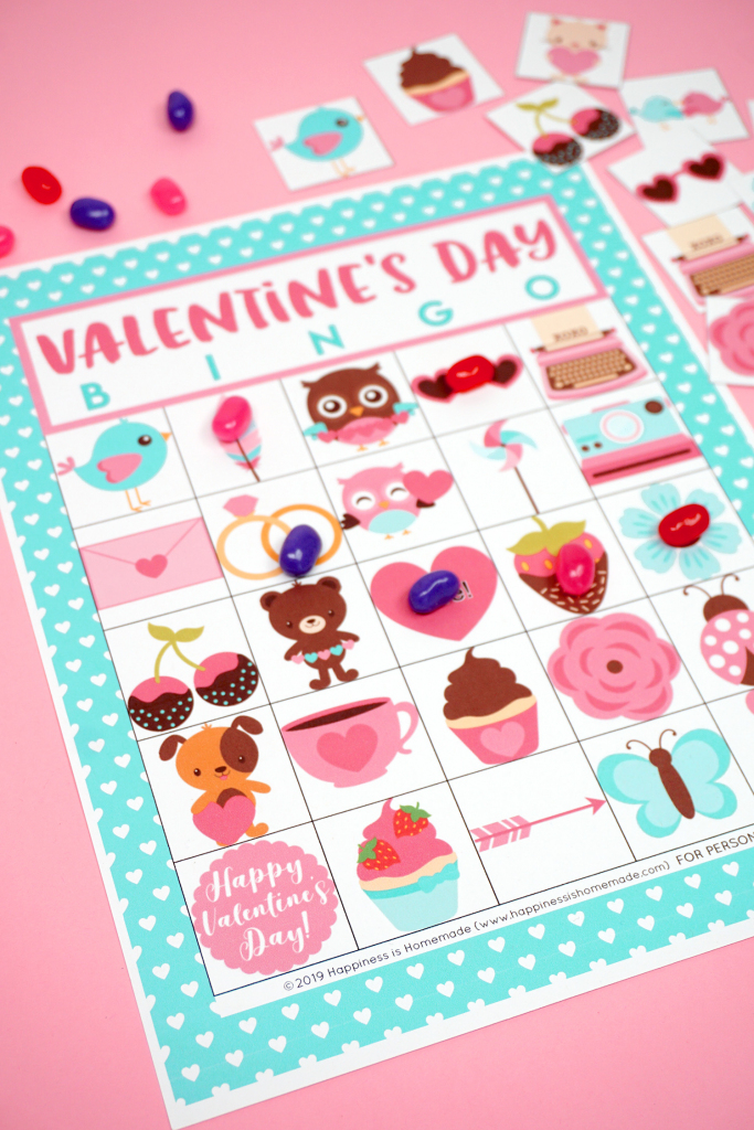 Free Printable Valentine Bingo - Happiness Is Homemade   Printable Mothers Day Bingo Cards