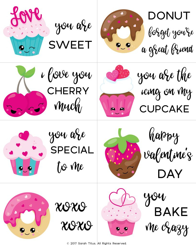 Free Printable Valentine Cards For Kids - Sarah Titus | Free Printable Valentines Day Cards For Kids