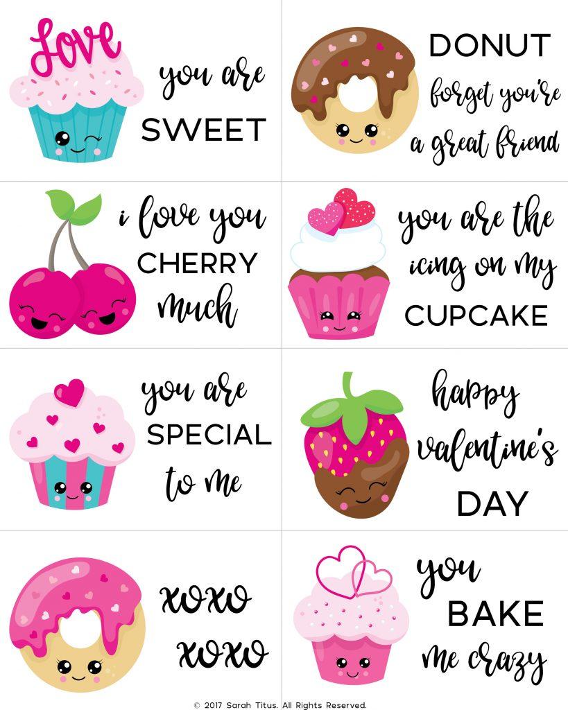 Free Printable Valentine Cards For Kids - Sarah Titus | Valentine Free Printable Cards