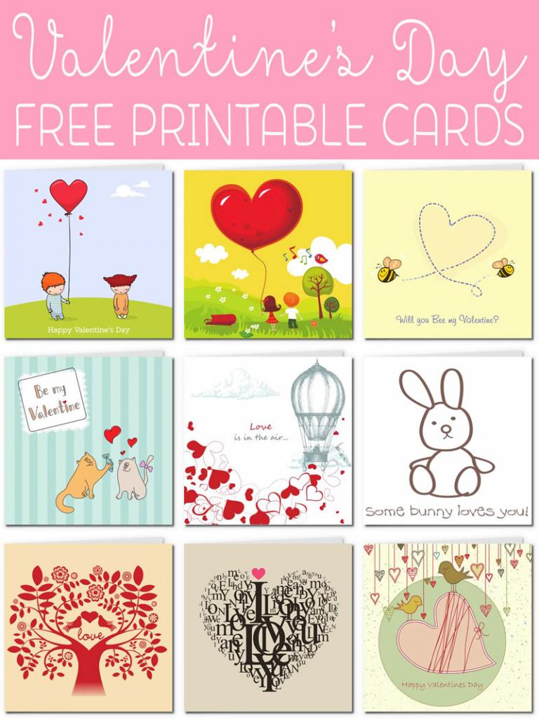 Free Printable Valentine Cards   Free Printable Valentines Day Cards