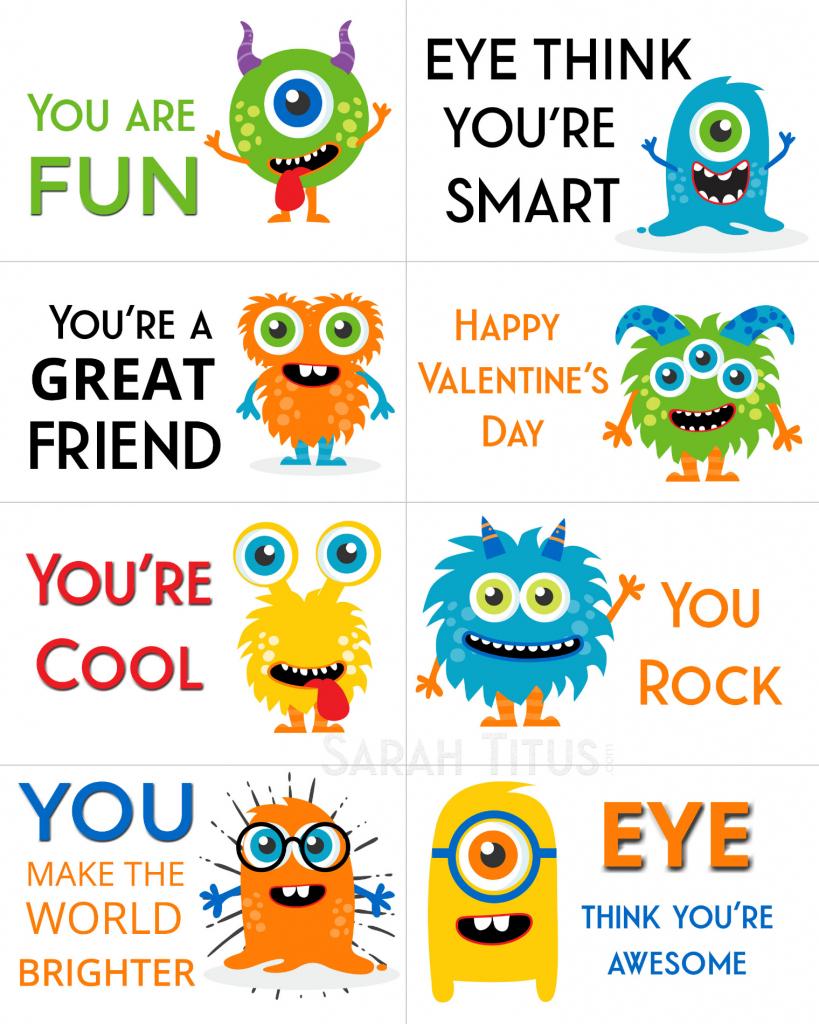 Free Printable Valentine Cards - Sarah Titus | Free Printable Valentine Cards For Preschoolers