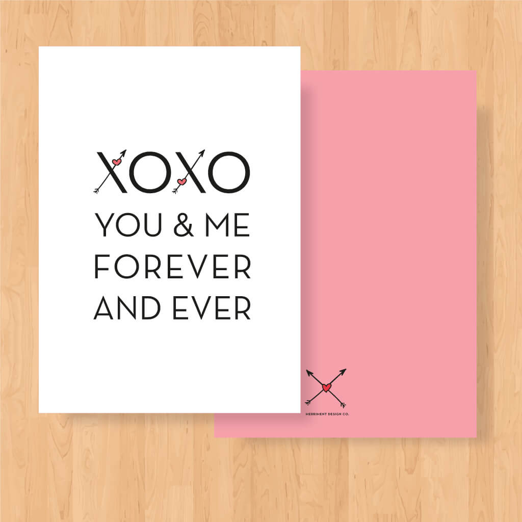 Free Printable Valentine: Xoxo You & Me - Merriment Design | Free Printable Valentine Cards For Husband