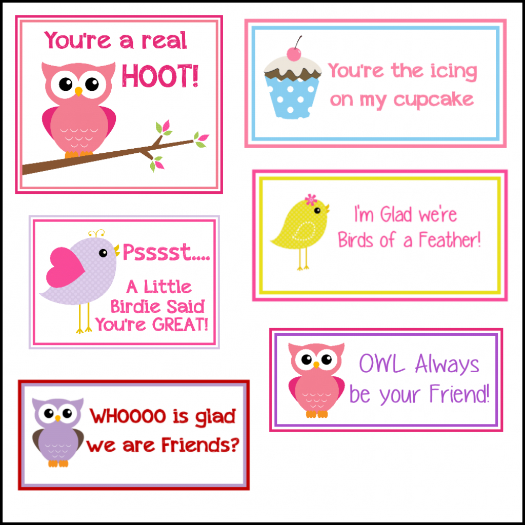 Free Printable Valentine's Cards (A Lot Of Them   Diy-Owl Printabes   Printable Valentine Cards For Kids