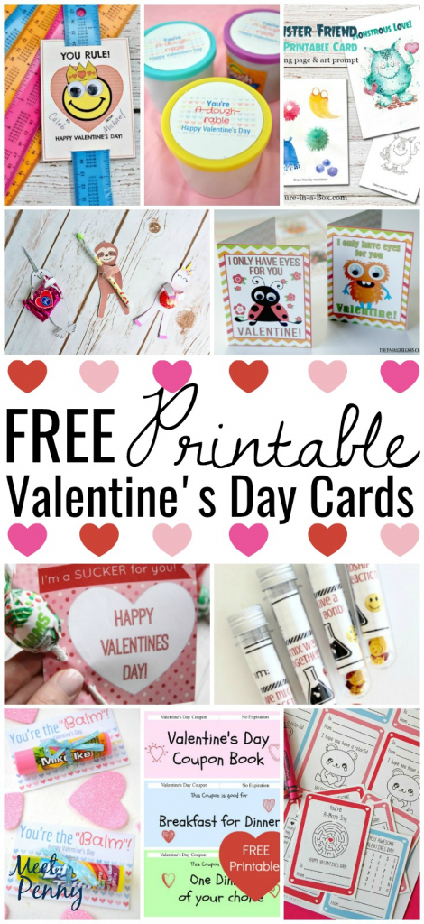 Free Printable Valentines Cards - Meet Penny   Free Printable School Valentines Cards