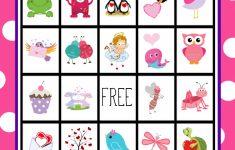 Free Printable Valentine's Day Bingo Game | Valentine's Day | Printable Mothers Day Bingo Cards