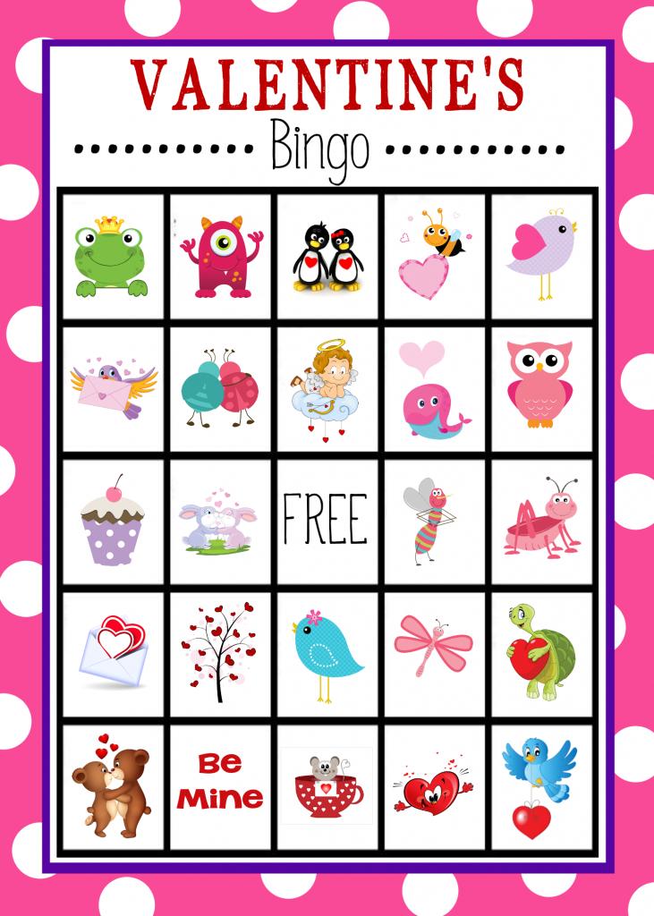 Free Printable Valentine's Day Bingo Game   Valentine's Day   Printable Mothers Day Bingo Cards