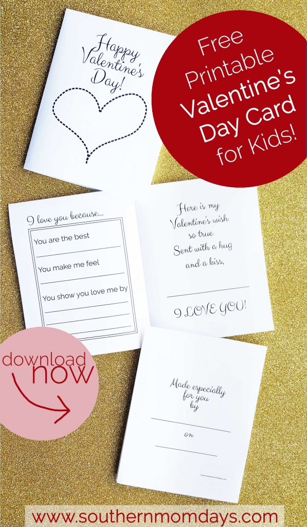 Free Printable: Valentine's Day Card For Kids | Valentine's Day | Free Printable Valentines Day Cards For Parents