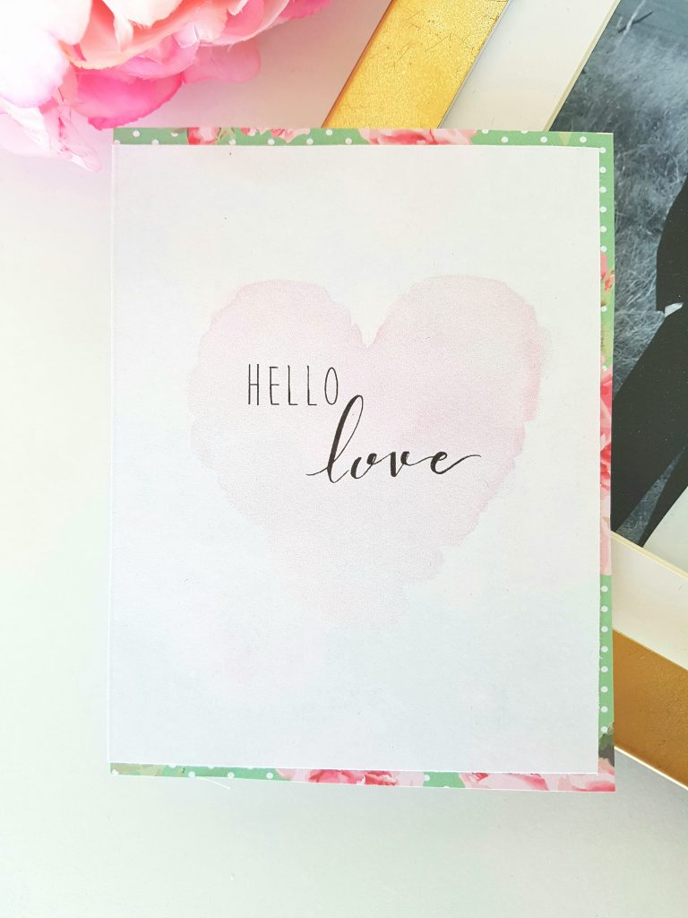 Free Printable Valentine's Day Card | Paper Rose | Free Printable Card Stock Paper