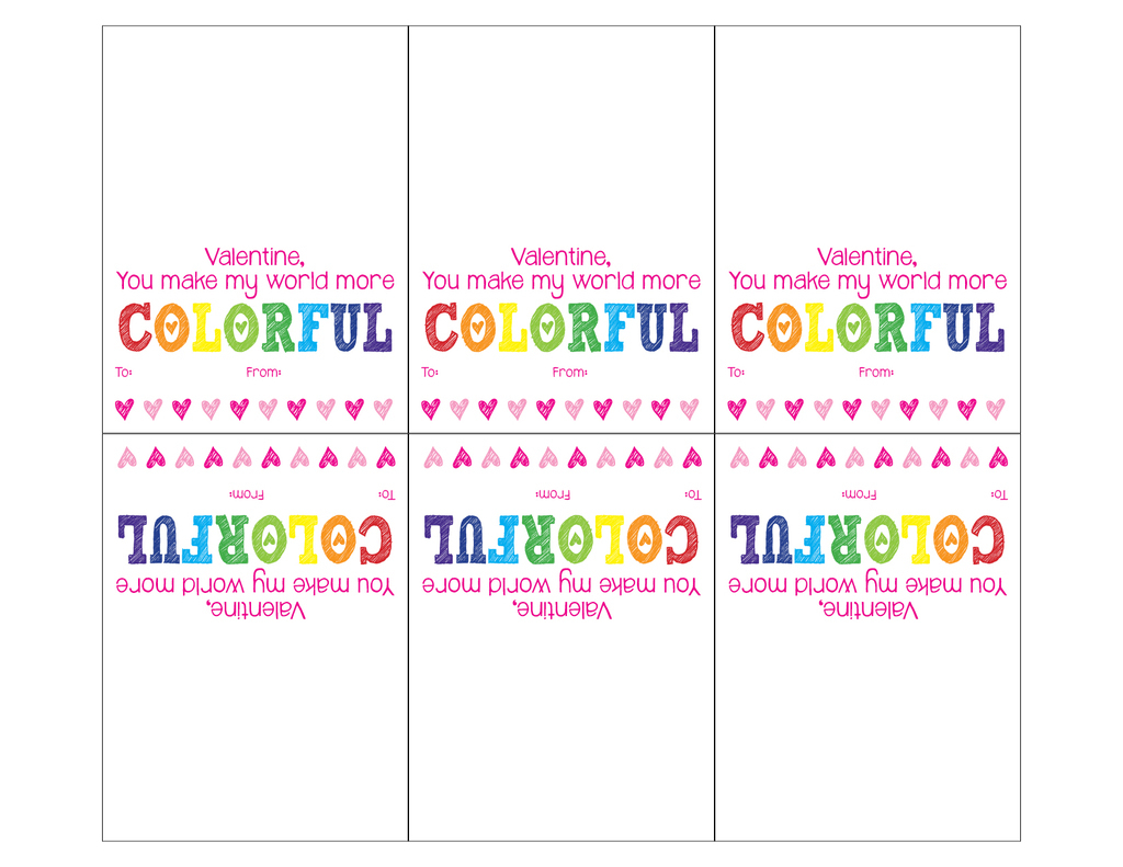 Free Printable Valentines Day Cards (Crayons) | The Taylor House | Make Your Own Printable Valentines Card
