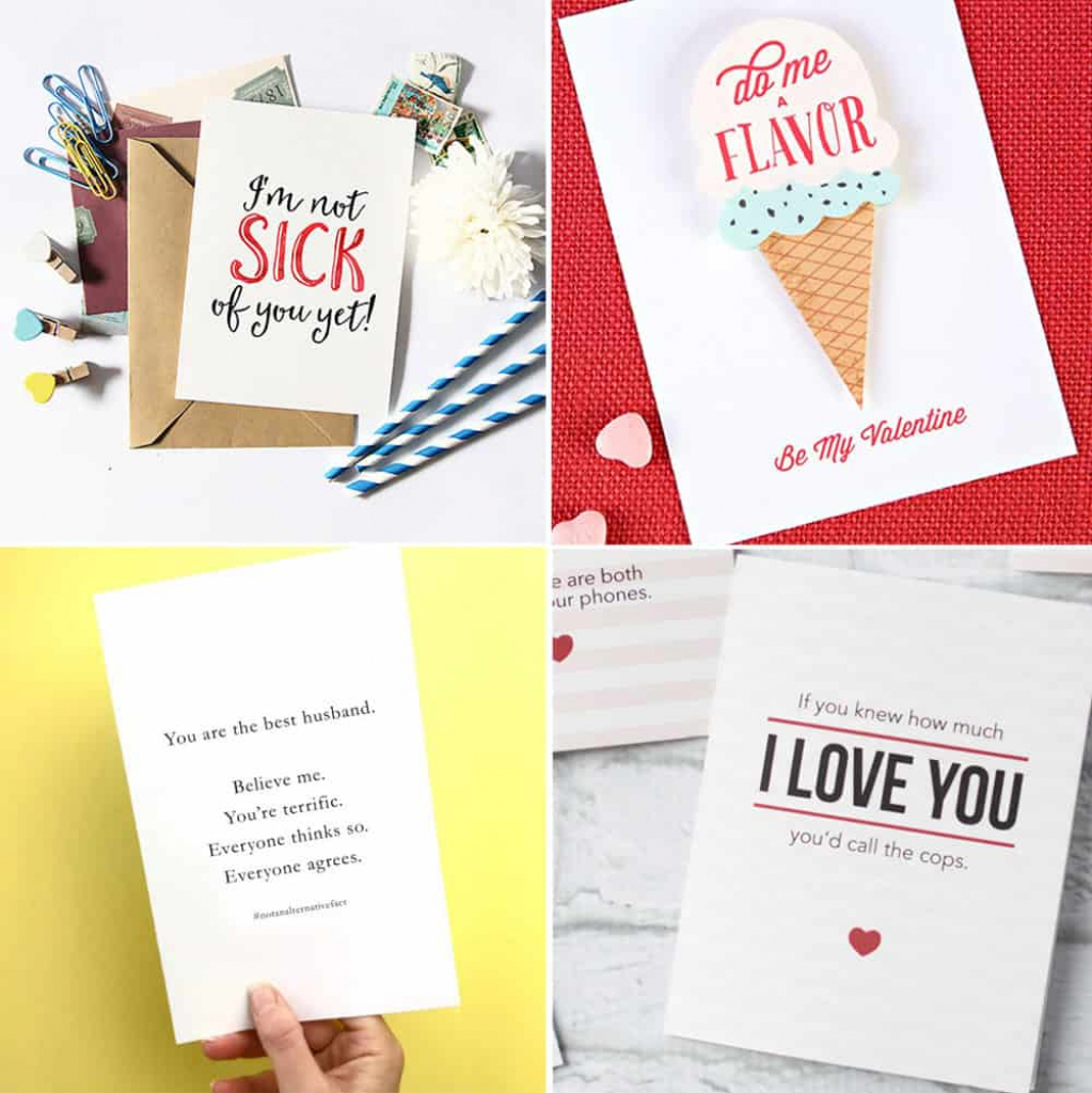 Free Printable Valentine's Day Cards   Printable Valentines Day Cards For Husband
