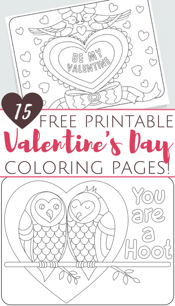 Free Printable Valentine's Day Coloring Pages For Adults And Kids   Printable Adult Valentines Day Cards