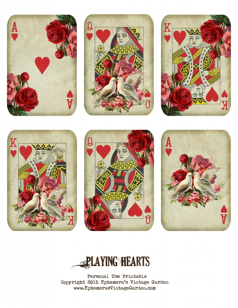 Free Printable - Valentine's Day Playing Cards (Ephemera's Vintage | Free Printable Deck Of Cards