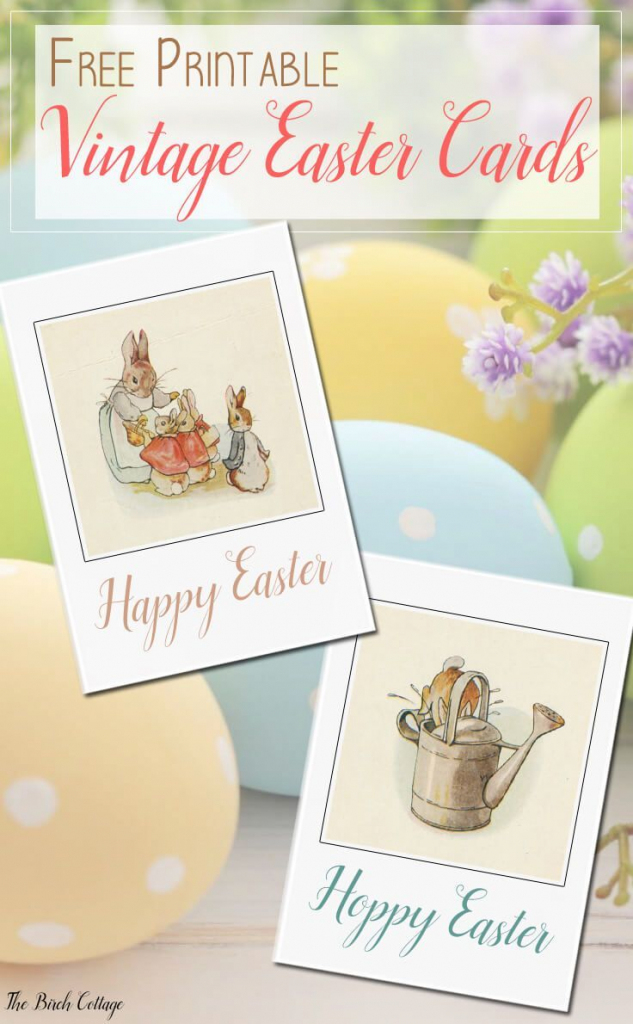 Free Printable Vintage Easter Cards   Bloggers' Fun Family Projects   Printable Easter Greeting Cards Free