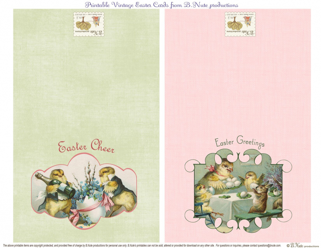 Free Printable Vintage Easter Folded Cards. I Finally Found These   Printable Easter Greeting Cards Free