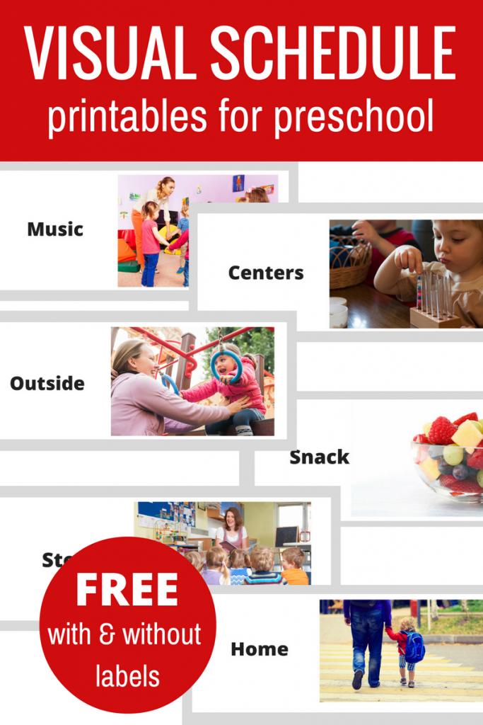 Free Printable Visual Schedule For Preschool - No Time For Flash Cards | Free Printable Schedule Cards For Preschool