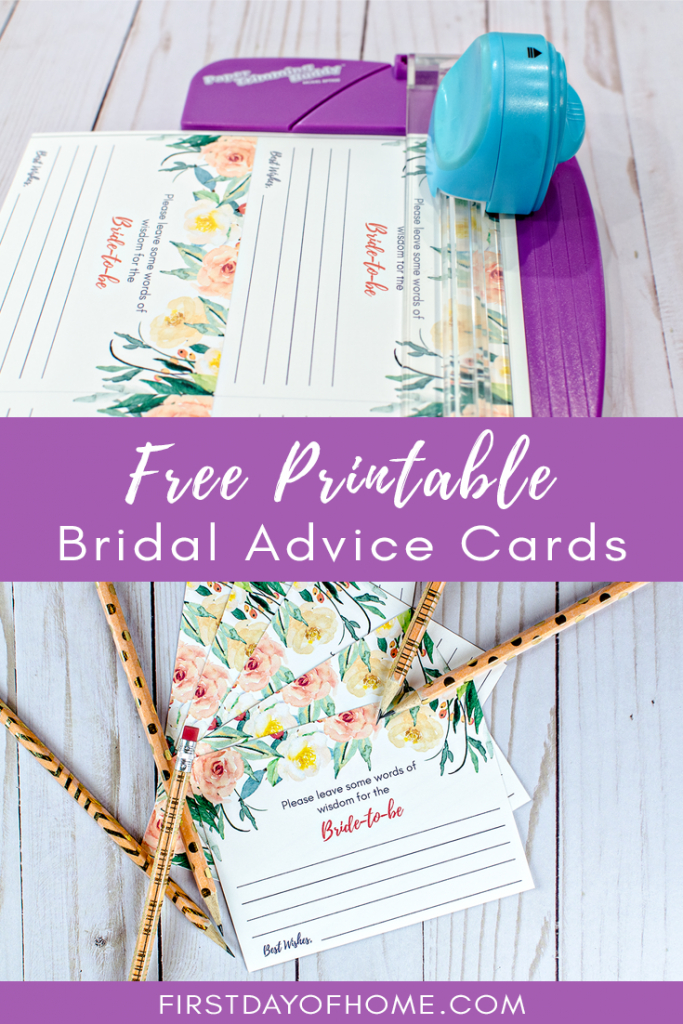 Free Printable Wedding Advice Cards (Instant Download) | Wedding | Free Printable Bridal Shower Advice Cards