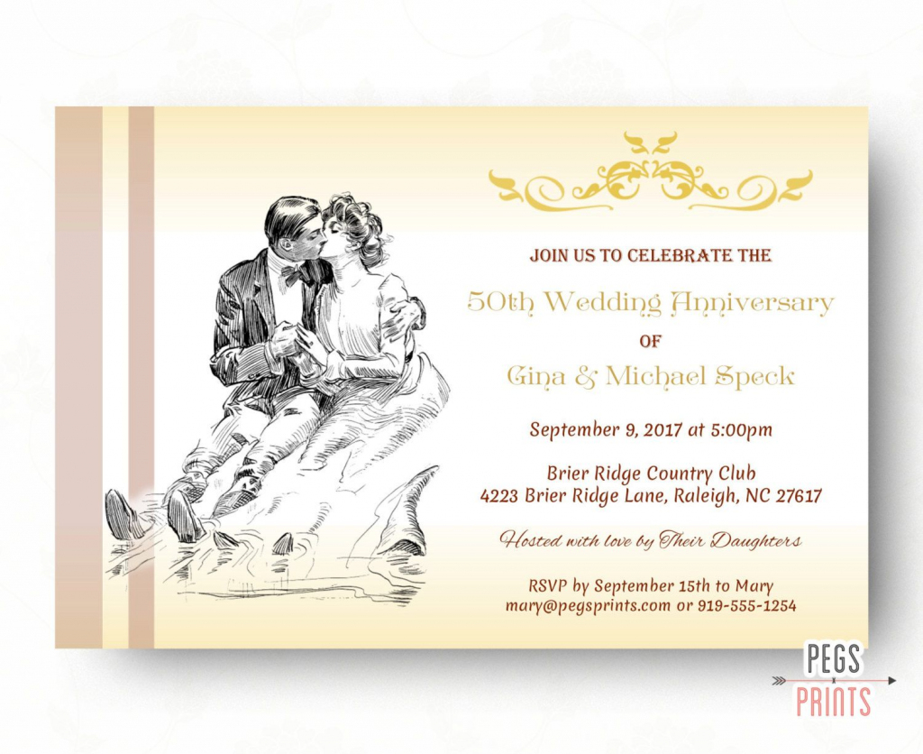 Free Printable Wedding Anniversary Cards ~ Wedding Invitation Collection | Free Printable 50Th Anniversary Cards