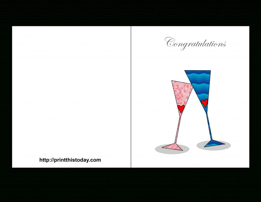 Free Printable Wedding Congratulations Cards | Free Printable Congratulations Cards