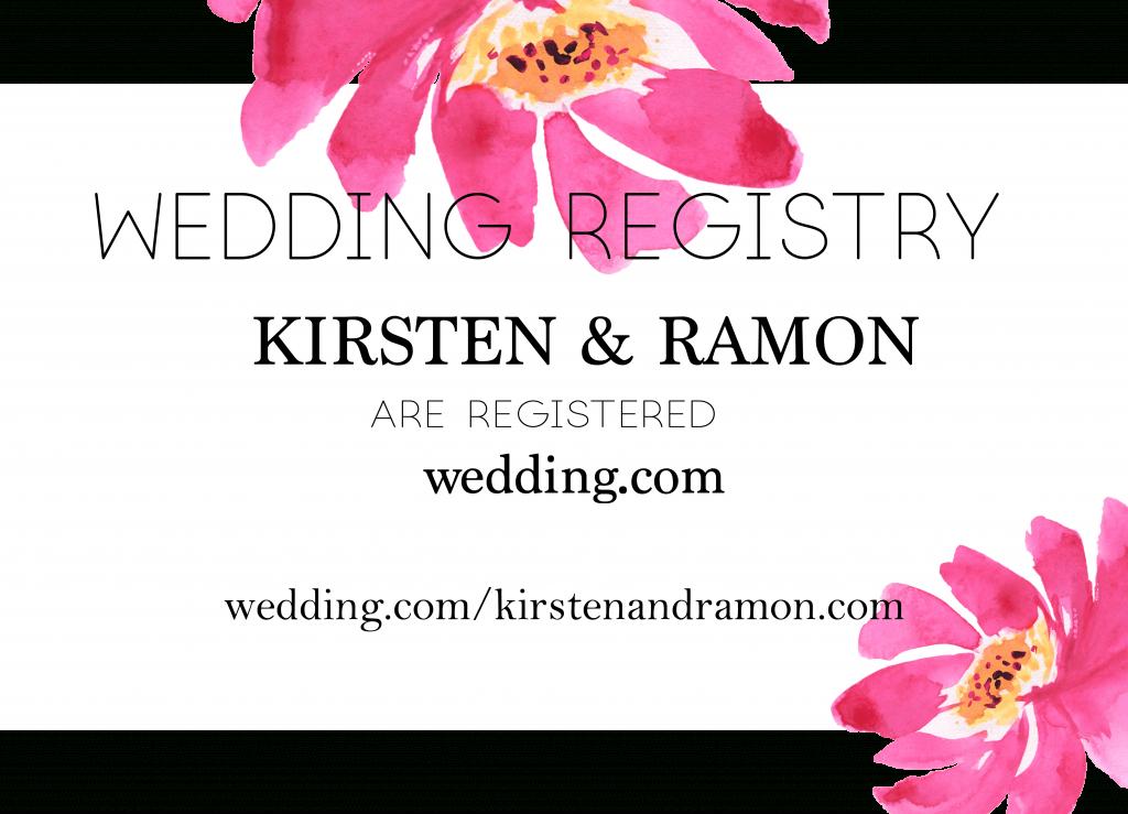 Free Printable Wedding Registry Card That Is Easily Downloaded | Free Printable Registry Cards