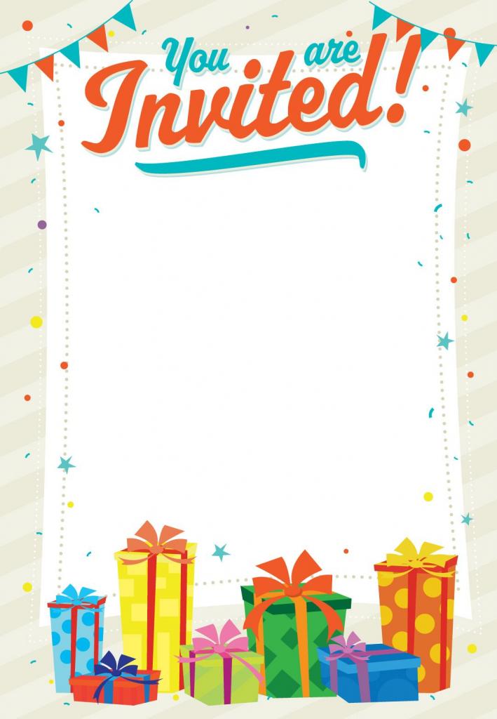 Free Printable You Are Invited Invitation | Printables & Fonts | Free Printable Birthday Invitation Cards Templates