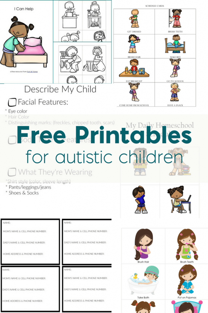 Free Printables For Autistic Children And Their Families Or Caregivers   Picture Cards For Autism Printable
