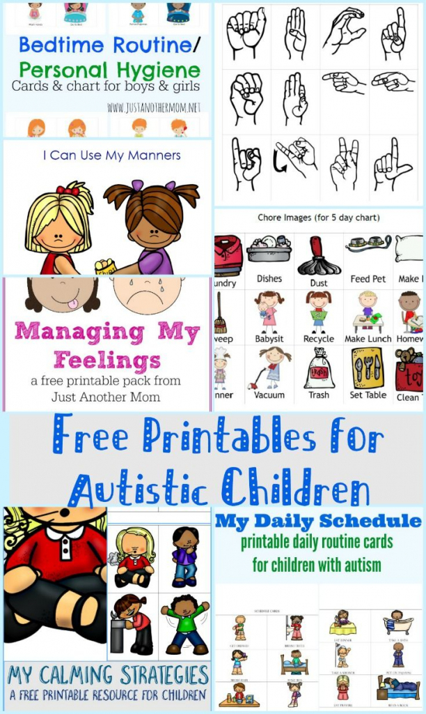 Free Printables For Autistic Children And Their Families Or   Picture Cards For Autism Printable