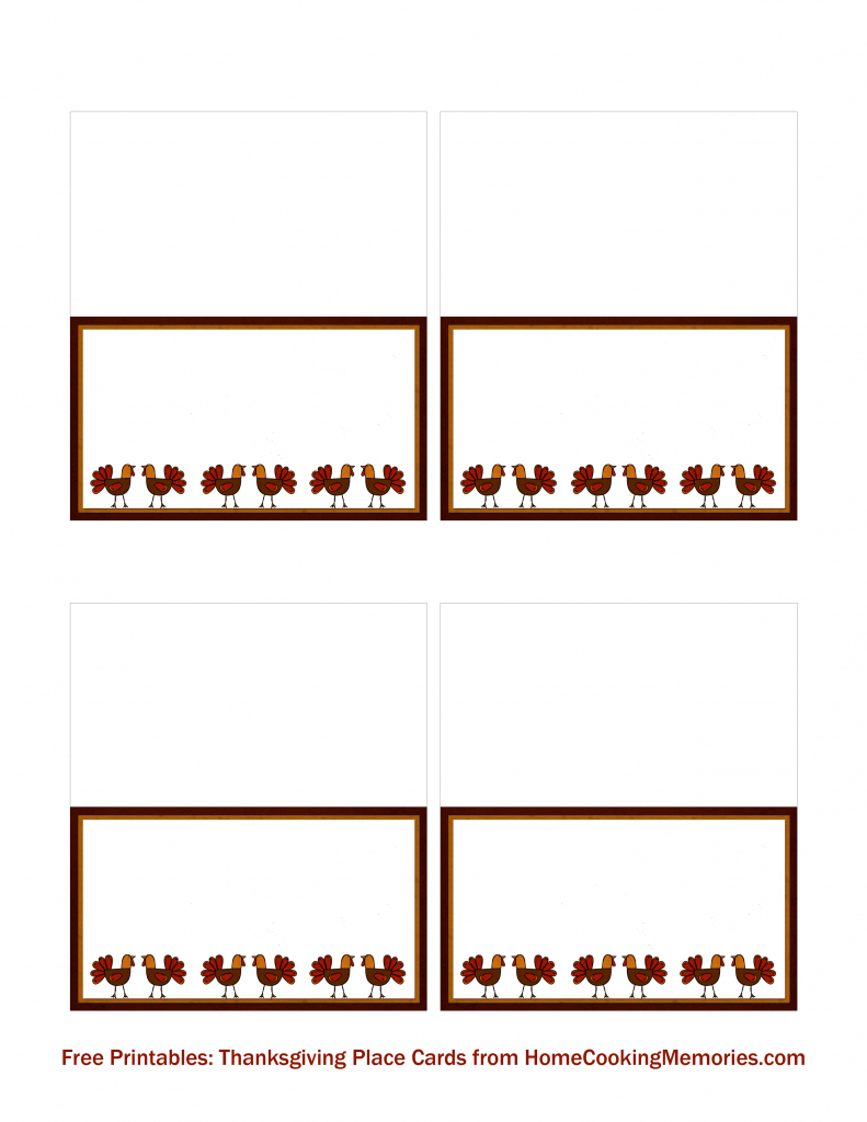 Free Printables: Thanksgiving Place Cards - Home Cooking Memories   Printable Thanksgiving Place Cards