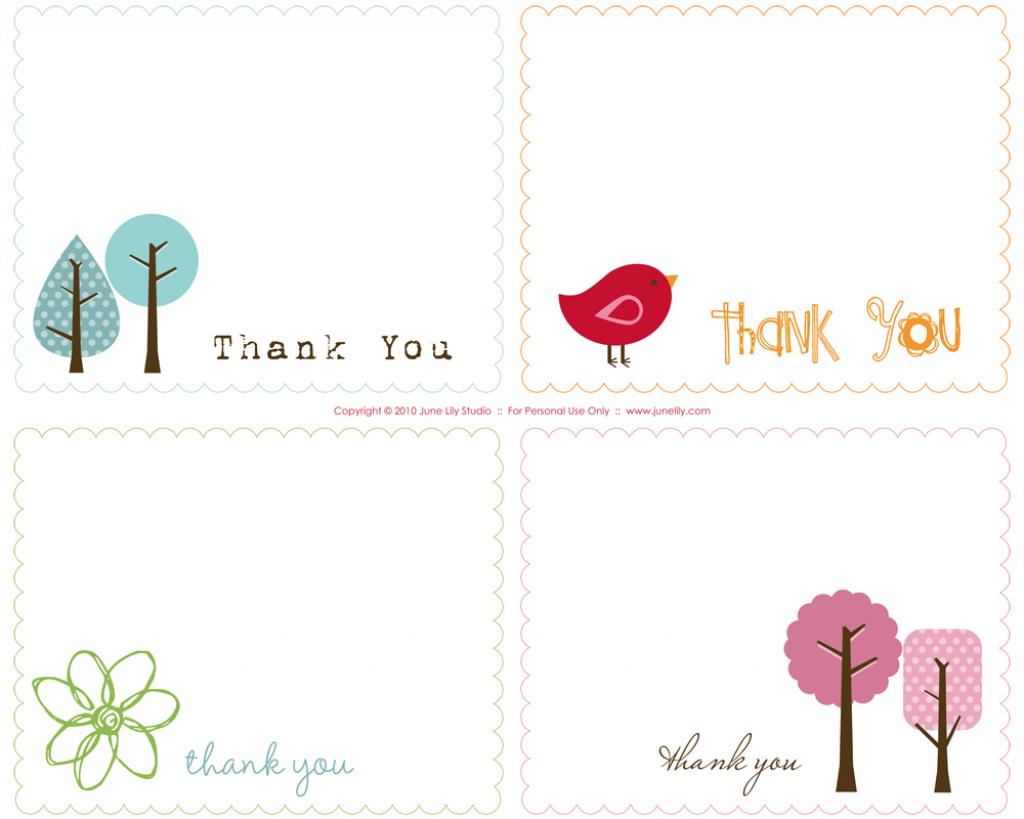 Free Prints   Free Printable Thank You Notes   June Lily   Custom   Free Printable Custom Thank You Cards