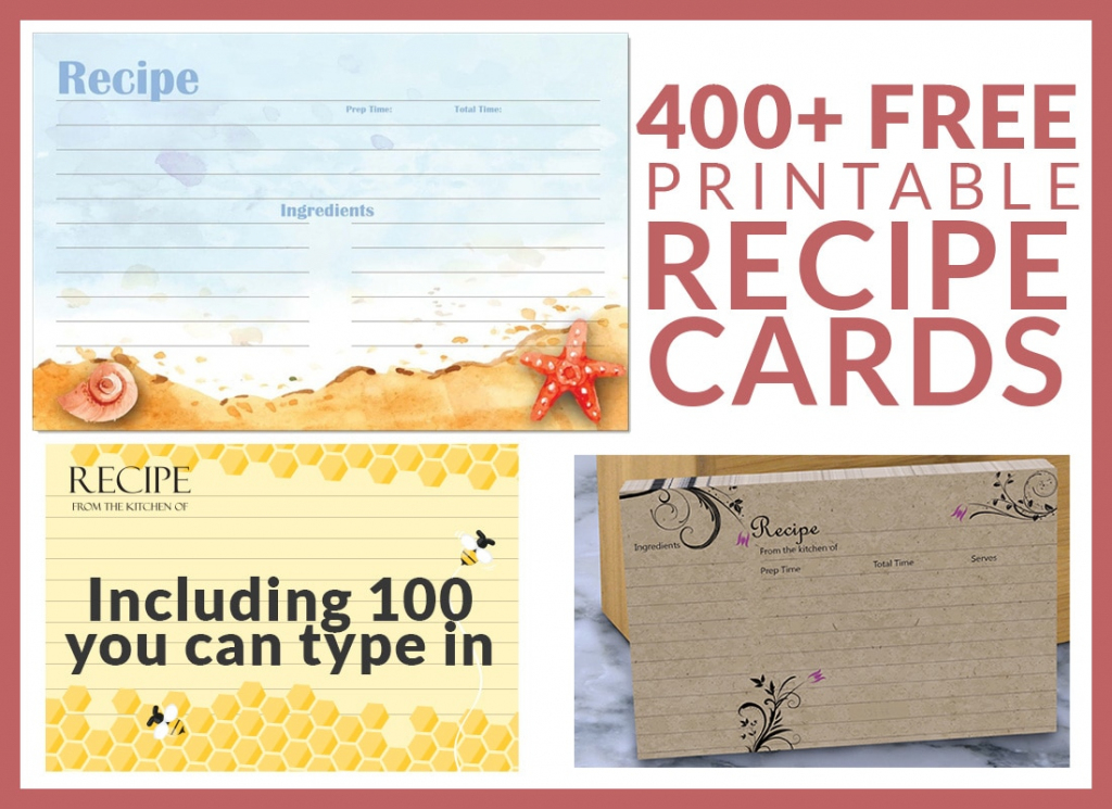 Free Recipe Cards - Cookbook People   Free Printable Photo Cards 4X6