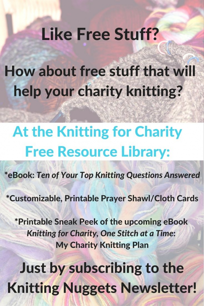Free Resource Library - Sign Up Here   Knitting For Charity   Printable Prayer Shawl Cards