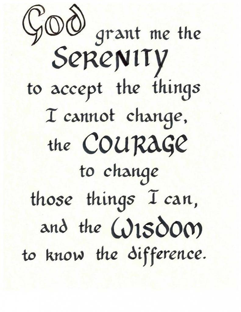 Free Serenity Prayer Printable Version | Serenity Prayer | Printable Serenity Prayer Cards