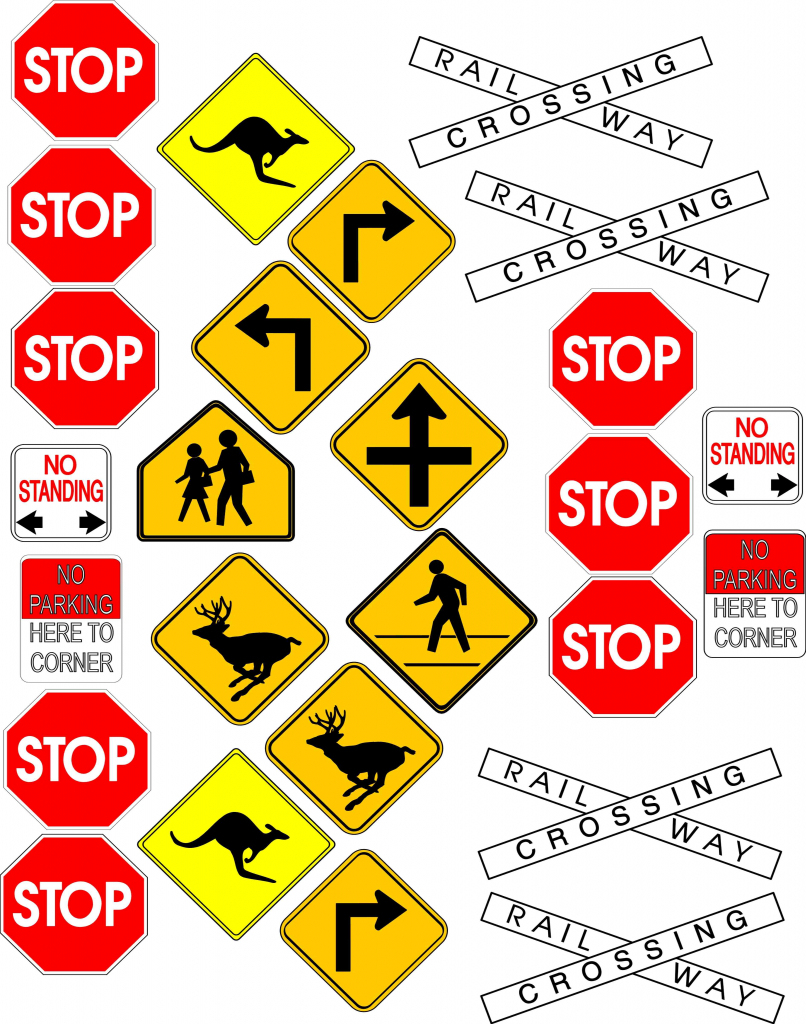 Free Signs, Download Free Clip Art, Free Clip Art On Clipart Library | Printable Road Signs Flash Cards