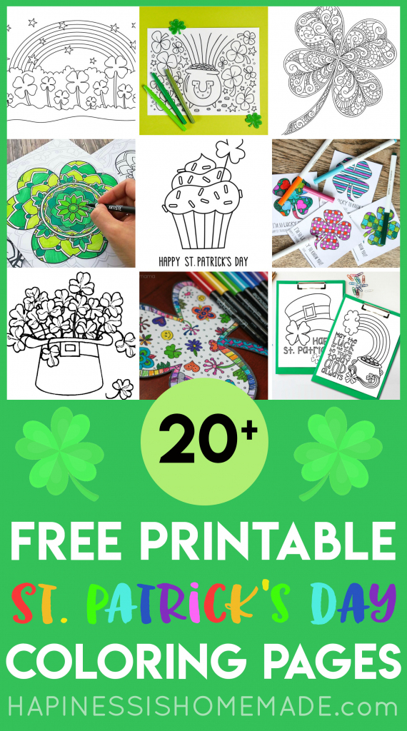 Free St. Patrick's Day Coloring Pages - Happiness Is Homemade   Free Printable St Patrick's Day Card