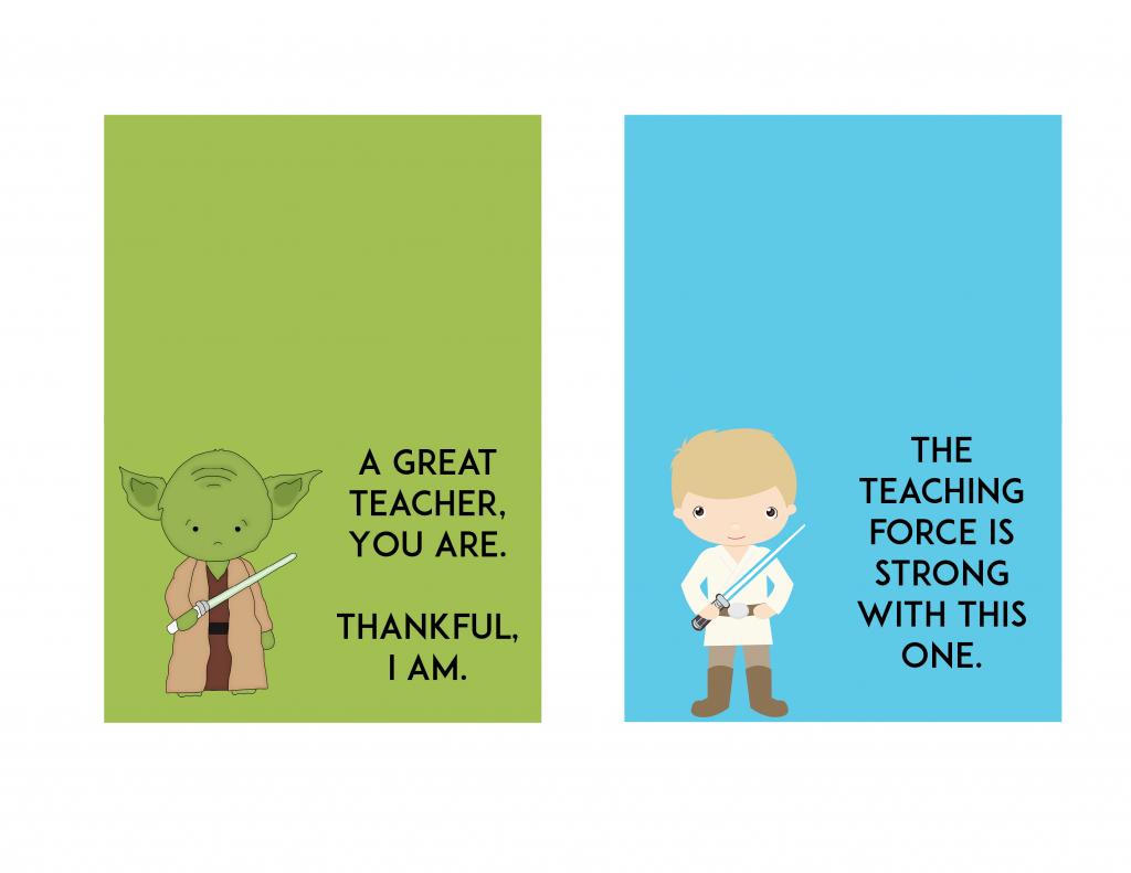 Free Star Wars Teacher Appreciation Day Printable - Ftm | Printable Star Wars Cards