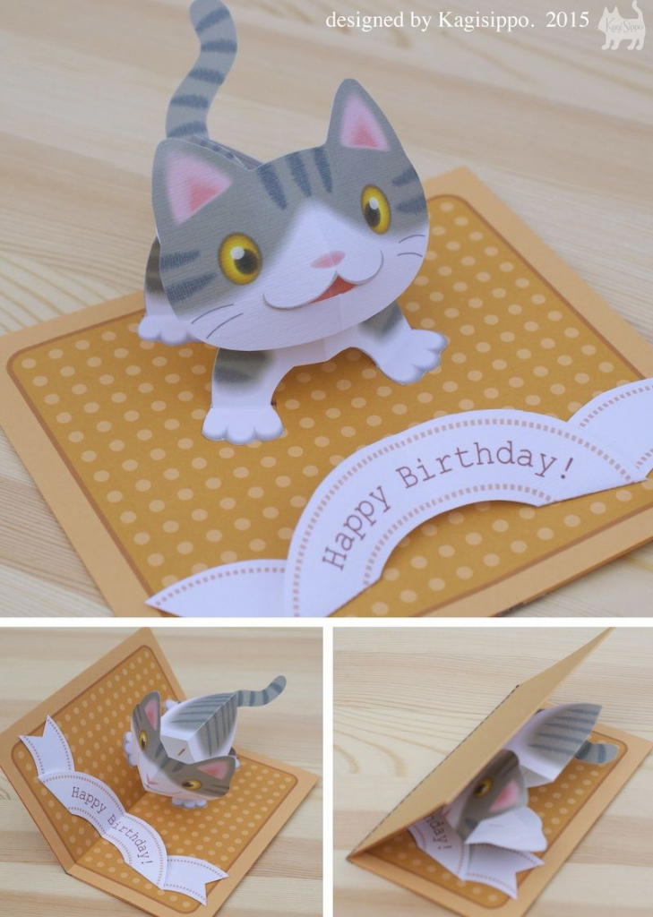 Free Templates - Kagisippo Pop-Up Cards_2 | Pop Up Cards | Pop Up | Free Printable Birthday Pop Up Card Templates
