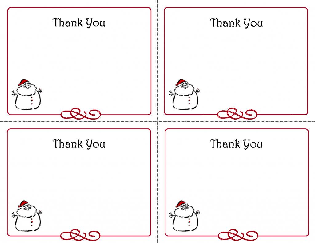 Free Thank You Cards Printable | Free Printable Holiday Gift Tags | Printable Christmas Cards For Veterans