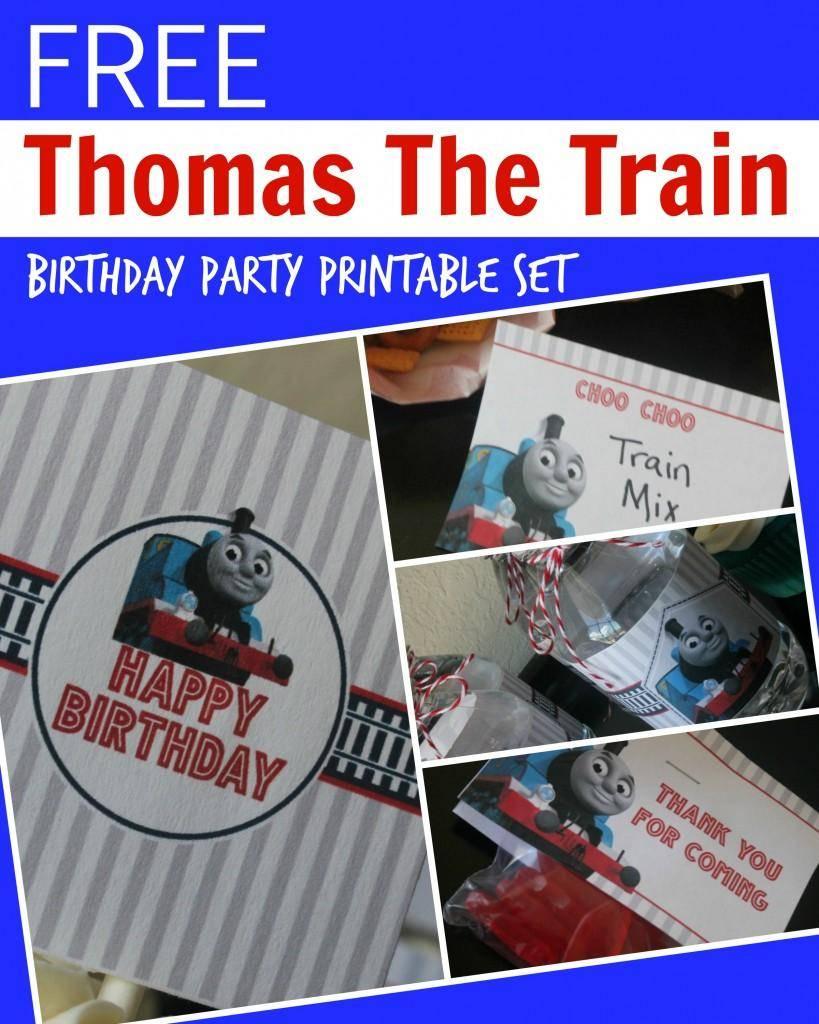 Free Thomas The Train Engine Birthday Party Printables - Passion For | Thomas Thank You Cards Printable