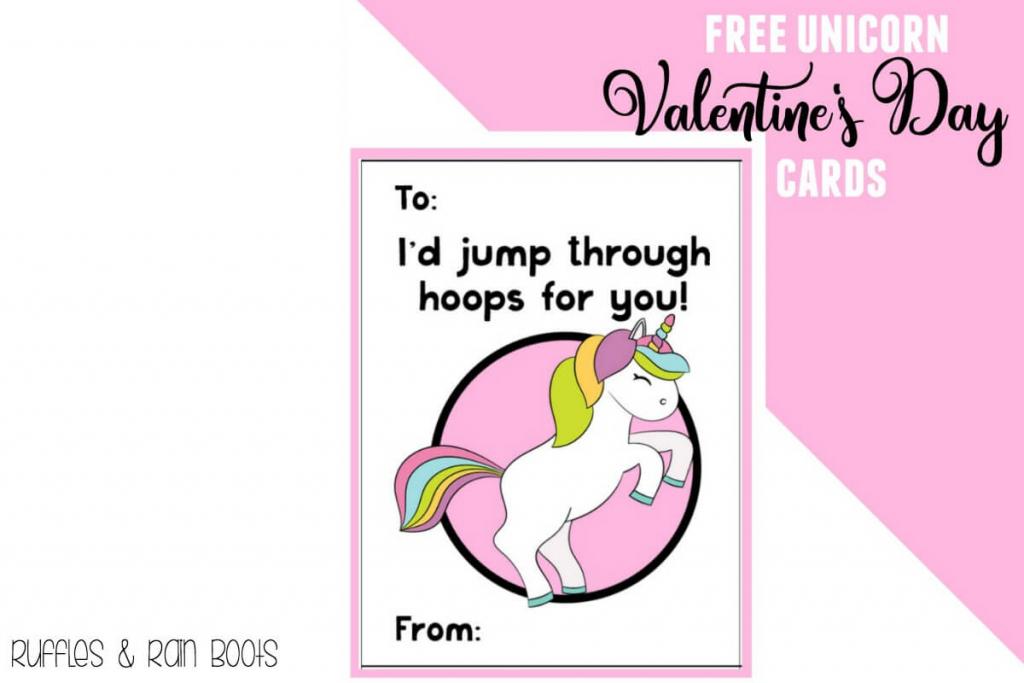 Free Unicorn Valentine's Day Cards Printable For Kids - Ruffles And | Printable Cards For Kids