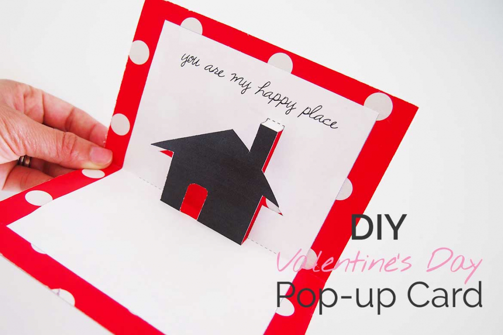Free Valentines Day Printable Card: Cute Pop-Up! - Sew In Love   Free Valentine Printable Cards For Husband