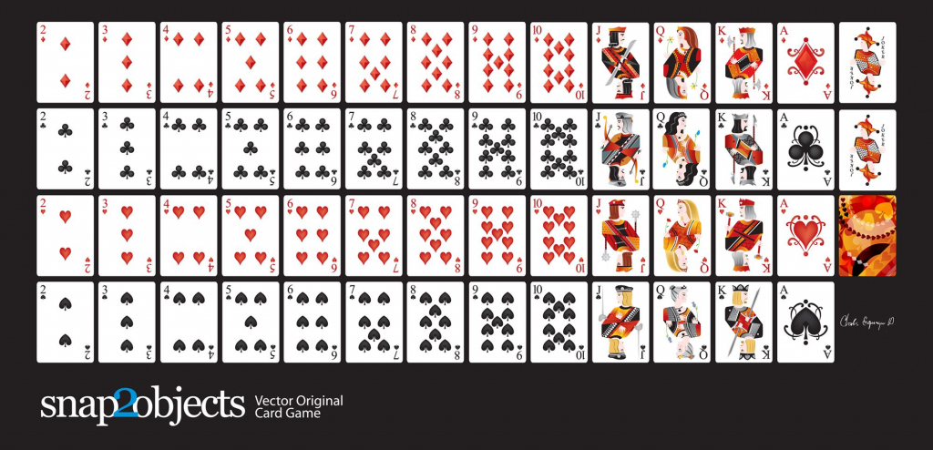 Free-Vector-Card-Deck | Silhouette Cameo | Cards, Deck Of Cards | Printable Mini Playing Cards