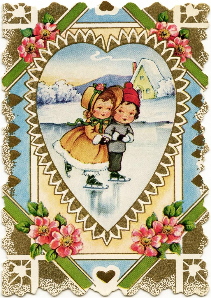 Free Vintage Valentine, Victorian Valentine Printable, Old Fashioned | Printable Old Fashioned Valentine Cards