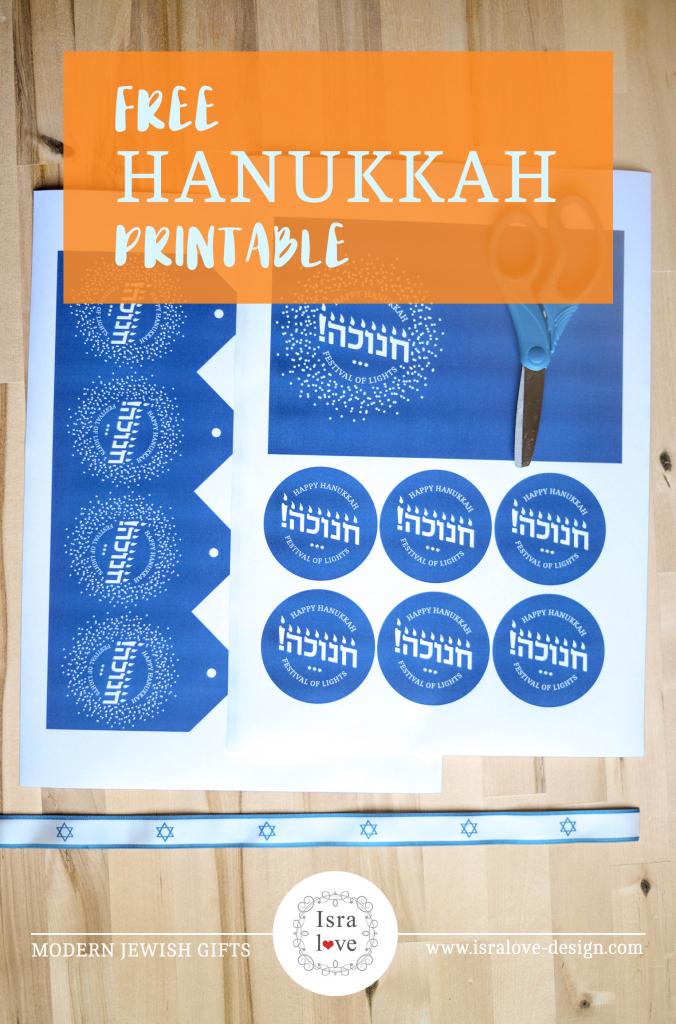 Freebie Archives - Isralove | Printable Hanukkah Cards To Color