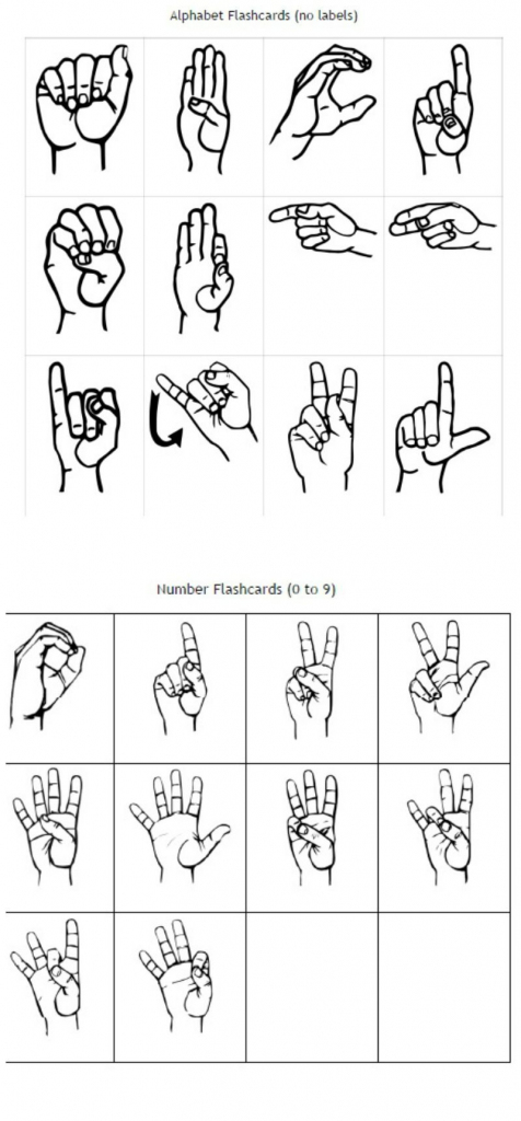 Freebie Friday: Free Printable Asl Alphabet Flashcards Pack | Best | Sign Language Flash Cards Free Printable