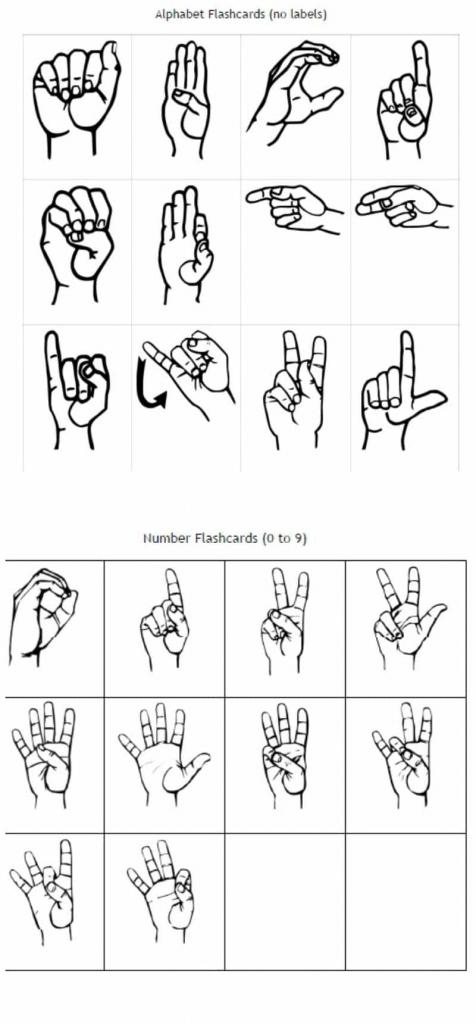 Freebie Friday: Free Printable Asl Alphabet Flashcards Pack | Sign Language Flash Cards Printables