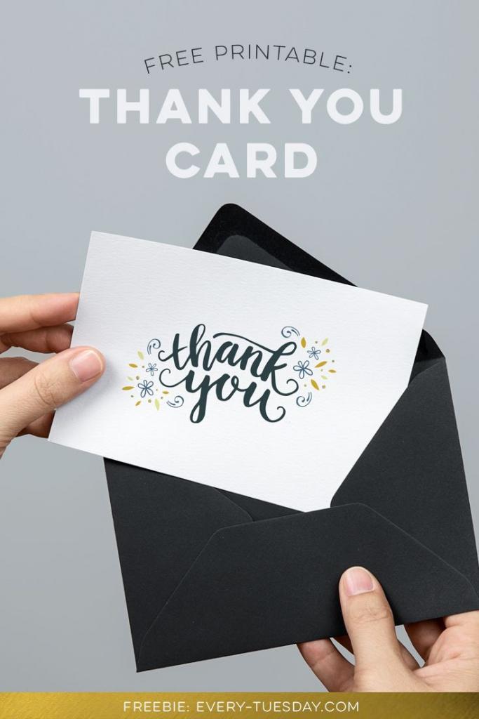 Freebie: Printable Thank You Card | Kaarten - Printable Thank You | Printable Thank You Cards Pdf